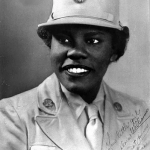 A women from The 6888 Central Postal Directory Battalion