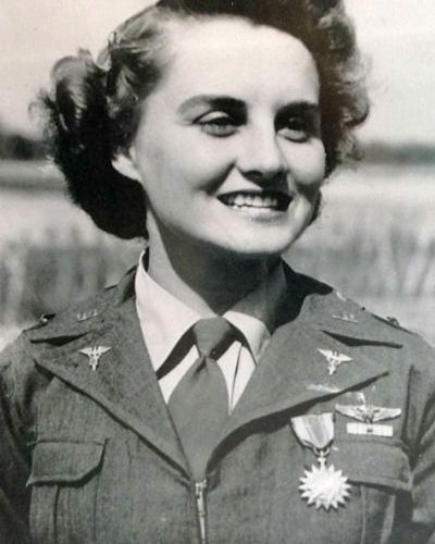 2015 US Army Women's Foundation Hall of Fame Distinguished Flying Cross Recipient 1LT Roberta Schilbach Ross