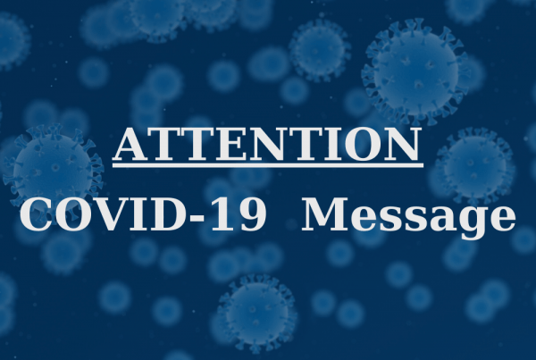 Covid-19 Message Attention background